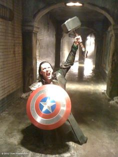 """I am Loki, of Asgard, and I am burdened with a glorious Props  Department"" haha"