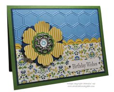 Card Creations by Beth: Print Poetry in Blue