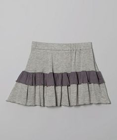 Loving this Gray & Charcoal Ruffle Skirt on #zulily! #zulilyfinds