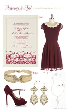 Stationery & Style: Vintage Bridesmaid Outfit