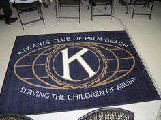 beach aruba, palm beach, logo rug