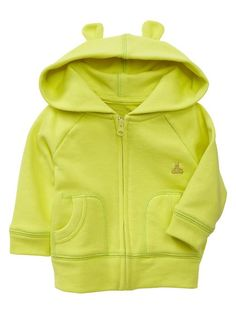 Gap | Neon bear zip hoodie