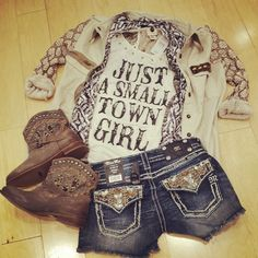 Casual tee and cutoffs