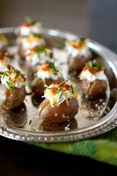 Cooking Recipes: Mini Loaded Potato Superbowl Footballs