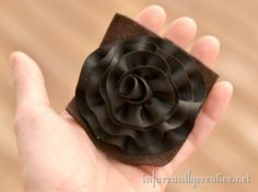rolled ribbon flower tutorial