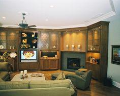 Tiled Fireplaces Design, Gray tiles on wood floor