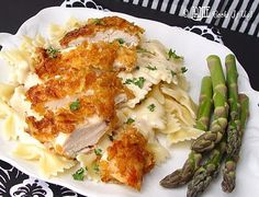 Crispy Chicken with Italian Sauce and Bowtie Noodles...NEW AND IMPROVED RECIPE, no cooking cream needed. :) #crispychicken, #jamiecooksitup, #favoritedinner