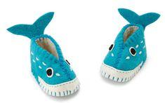 Handmade whale baby booties - cuteness!