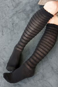 Textured Stripe Knee High