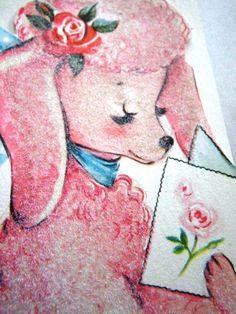 Vintage  Pink Poodle