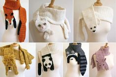 bufanda de, crochet scarf, anim scarf, crochet animals, crochet project
