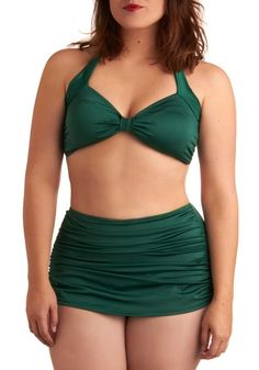 Bathing Beauty Two Piece in Emerald - Plus Size | Mod Retro Vintage Bathing Suits | ModCloth.com - StyleSays