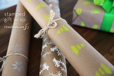 Hand-stamped giftwra