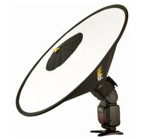 The new Roundflash Dish is a new beauty dish for your speedlight.