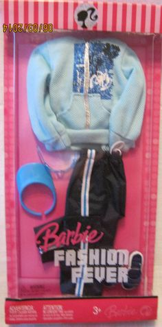 KEN FASHION FEVER ~ 2007 CASUAL ~ BLUE HOODIE & BLACK PANTS~ NEW