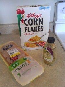 corn flake chicken with honey mustard
