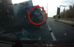 Possibly the luckiest driver in the world!? Click to watch this unbelievable footage #video #spon