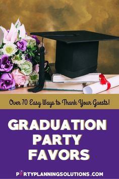 As the guests leave your grad party, be sure to send them on their way with a favor to show your appreciation for their effort to celebrate with you! No matter what type of favor you are looking for, or what kind of budget you have we have awesome ideas for graduation party favors! #graduationpartyideas #graduationparty #partyideas #partyplanning #gradparty #partyfavors #graduationpartyfavors #gradfavors