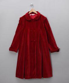 Kidiwi   Red Velvet Coat - Girls
