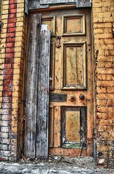 An old... old door