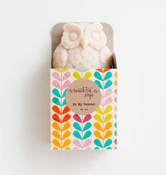 Coconut Owl Soap - Natural, Handmade, Cold Processed, Vegan.