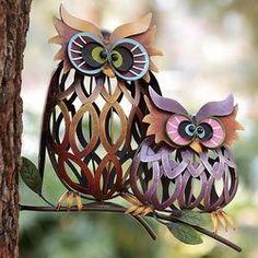 owl pair, iron garden, gardensculptur, pair iron, owl thing