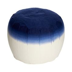 Fade Pouf Navy on Fab. $69