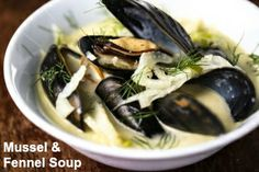 #Paleo #Recipe: #Mussel and Fennel #Soup  This is a variation on a #Belgian #classic using fresh fennel and crushed #fennel seeds instead of leeks and celery.