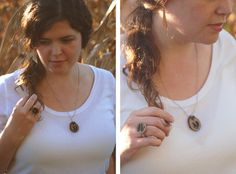 Get inspired by nature and create this fabulous rustic jewelry set. This Wonderful Walnut Necklace and Ring Set is super easy to make, and they are the perfect accessories for fall.