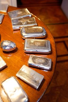 Sterling Silver Cases...lovely.