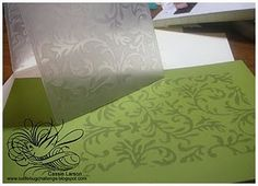 stamping using cuttlebug folder