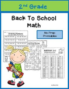 Back to School Math for 2nd grade