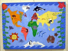 Made by Montessori Preschool World. Saw it first as part of Patjimmat's Favorites and then, saw that it was made by preschool children under the direction of a parent. So neat!   Photo by Normanack on Flickr.