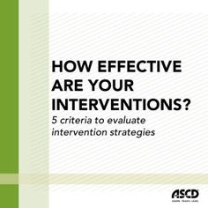 How to tell if your interventions are working.