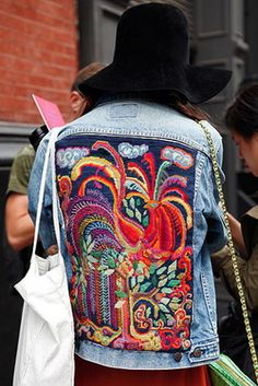 Street Style: Everybody In Denim. Photo by Anthea Simms