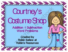 Fun for October or Any Month! Enter for your chance to win 1 of 3.  Costume Shop Addition & Subtraction Word Problem task cards (10 pages) from Robin's Resources on TeachersNotebook.com (Ends on on 10-28-2014)  These task cards with addition and subtraction word problems feature colorful costumes that aren't Halloween themed.