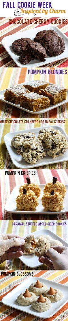 Fall cookie recipes via Inspired by Charm // Fall Cookie Week