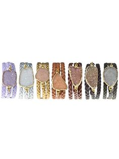 Alexandra Beth Designs - Druzy Wrap Bracelets