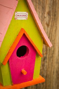 Colorful Birdhouse by ZStrawPhoto on Etsy