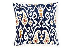 Ikat 20x20 Pillow, Blue on OneKingsLane.com