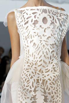 gorgeous detail wedding dressses, fashion, stella mccartney, louis vuitton, spring summer, gown, loui vuitton, vintage roses, cut outs