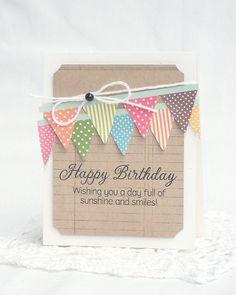 Happy birthday homemade card