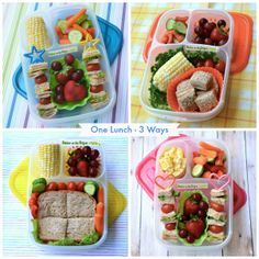 How to pack one lunch Three DIFFERENT Ways | packed in @EasyLunchboxes containers