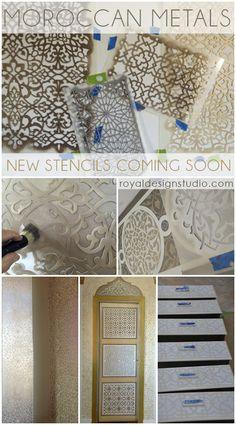 Amazing Moroccan stencils in new patterns from Royal Design Studio stencils