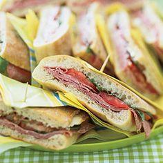 Pressed Mediterranean Sandwiches | MyRecipes.com
