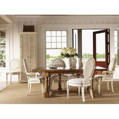Lexington Twilight Bay Ashton Rectangular Dining Table in Distressed Warm Saddle Brown