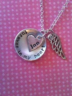 NEWForever In My HeartHand Stamped by DarkChocolateNTulips on Etsy, $34.00