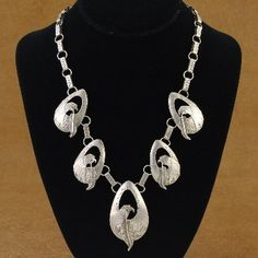 Vintage Native American Sterling Silver Necklace