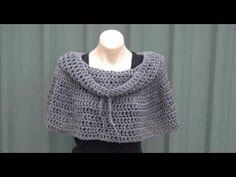 Cowl Neck Poncho Crochet Tutorial - YouTube