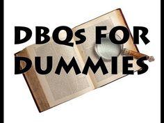 DBQ Essays for Dummies - How to Write a DBQ